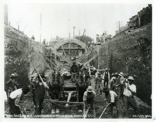 A historical picutre of the East Boston tunnel