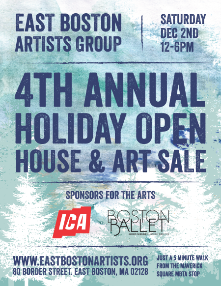 East Boston Artists Group Holiday Sale Dec 2 2017