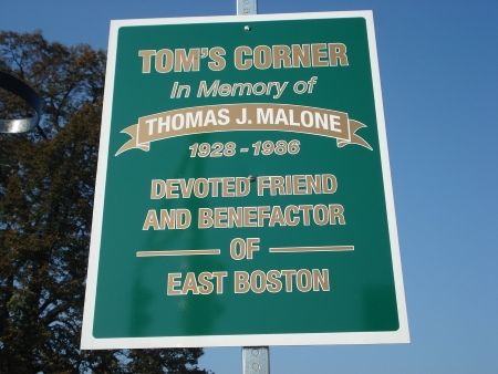 Tom Malone Sign in Central Square East Boston